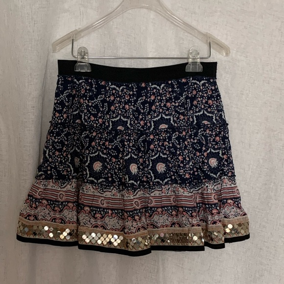 Free People Dresses & Skirts - Free People boho sequins embellished skirt size M